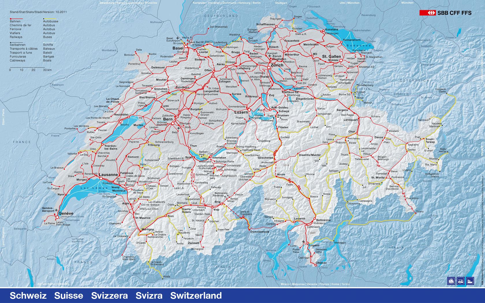 Sbb Schweiz Karte | Kleve Landkarte
